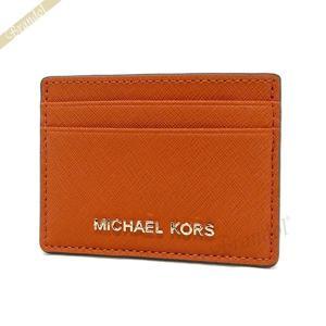 マイケルコース MICHAEL KORS カードケース レディース Jet Set Travel サフィアーノ レザー オレンジ 32S4GTVD1L 800 ORANGE [在庫品]|brandol