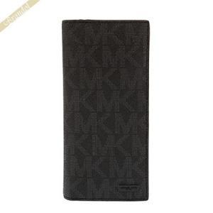 マイケルコース MICHAEL KORS 財布 メンズ 長財布 MKモノグラム ブラック 39F5LMNE8B 001 [在庫品]|brandol