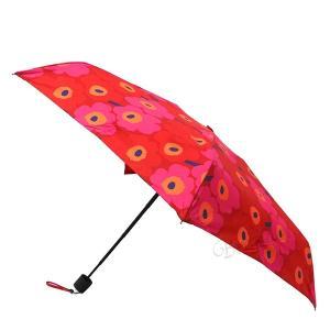 マリメッコ marimekko レディース 折りたたみ傘 ミニ ウニッコ Mini Unikko 花柄 54cm レッド×ピンク 038653 301 [在庫品]|brandol|02