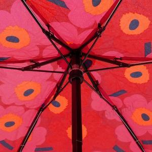 マリメッコ marimekko レディース 折りたたみ傘 ミニ ウニッコ Mini Unikko 花柄 54cm レッド×ピンク 038653 301 [在庫品]|brandol|09