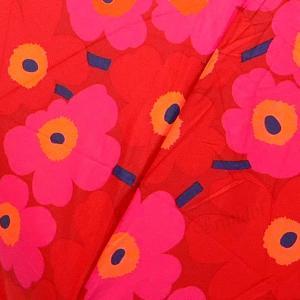 マリメッコ marimekko レディース 折りたたみ傘 ミニ ウニッコ Mini Unikko 花柄 54cm レッド×ピンク 038653 301 [在庫品]|brandol|10