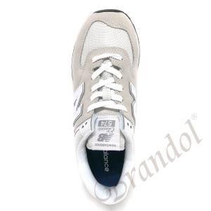 ニューバランス new balance スニーカー レディース [22.0-25.5cm] ライトグレー×ホワイト WL574EW 100 WHITE [在庫品]|brandol|04