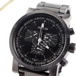 ニクソン NIXON メンズ腕時計 THE MAGNACON マグナコン クロノグラフ A154-632 48mm ブラック A154632 [在庫品]|brandol