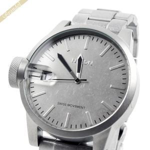 ニクソン NIXON メンズ腕時計 THE CHRONICLE クロニクル A198-1033 48mm シルバー A1981033|brandol