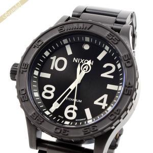 ニクソン NIXON メンズ腕時計 THE 51-30 TI チタニウム A351-001 51mm ブラック A351001 [在庫品]|brandol