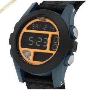 ニクソン NIXON メンズ腕時計 THE BAJA A489-1323 デジタル 50mm ブラック×オレンジ A4891323|brandol