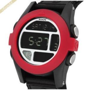 ニクソン NIXON メンズ腕時計 THE BAJA A489-760 デジタル 50mm レッド×ブラック A489760|brandol