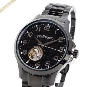 ニューヨーカー NEWYORKER メンズ腕時計 JUSTIS ジャスティス 自動巻き 42mm ブラック NY005.00 [在庫品]|brandol