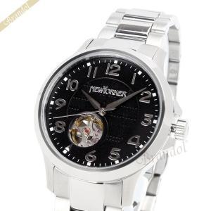 ニューヨーカー NEWYORKER メンズ腕時計 JUSTIS ジャスティス 自動巻き 42mm ブラック×シルバー NY005.03 [在庫品]|brandol