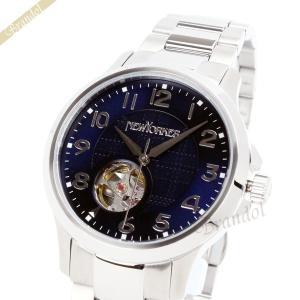 ニューヨーカー NEWYORKER メンズ腕時計 JUSTIS ジャスティス 自動巻き 42mm ネイビー×シルバー NY005.05 [在庫品]|brandol