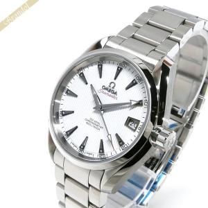 オメガ OMEGA メンズ腕時計 シーマスター アクアテラ コーアクシャル 自動巻き 35mm ホワイト×シルバー 231.10.39.21.54.001 [在庫品]|brandol