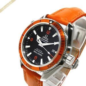 オメガ OMEGA メンズ腕時計 シーマスター プラネット オーシャン コーアクシャル 自動巻き 42mm ブラック×オレンジ 2909.50.38 [在庫品]|brandol