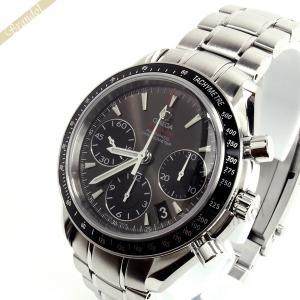 オメガ OMEGA メンズ腕時計 スピードマスター デイト 40mm クロノグラフ 自動巻き ガンメタリックグレー×シルバー 323.30.40.40.06.001 [在庫品]|brandol