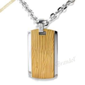 ポリス POLICE ネックレス メンズ WAVEBREAKER ツートンカラー プレート ペンダント ゴールド×シルバー 25516PSG01 [在庫品] brandol