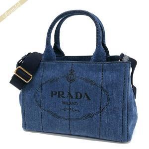 プラダ PRADA レディース トートバッグ カナパ CANAPA Sサイズ デニム 2wayショルダー ミニトート ブルー系 1BG439 AJ6 F0008 [在庫品] brandol
