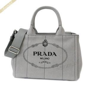 プラダ PRADA レディース ショルダーバッグ カナパ CANAPA Sサイズ 2way ミニトートバッグ グレー 1BG439 ZKI F0424 [在庫品] brandol