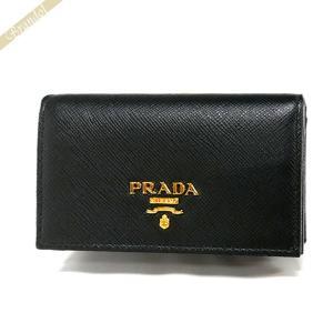 プラダ PRADA 名刺入れ レディース・メンズ レザー ブラック 1MC122 QWA F0002 / NERO [在庫品]|brandol