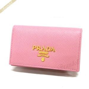 プラダ PRADA レディース 名刺入れ レザー カードケース ライトピンク 1MC122 QWA F0442 [在庫品]|brandol