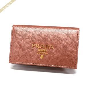 プラダ PRADA レディース 名刺入れ レザー カードケース ピンク系メタリック 1MC122 QWA F0CBV [在庫品] brandol