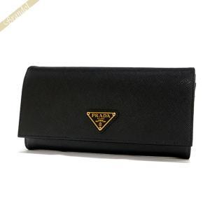 プラダ PRADA レディース 長財布 パスケース付 レザー ウォレット ブラック 1MH132 QHH F0002 / NERO [在庫品]|brandol