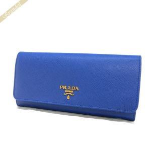 プラダ PRADA 財布 レディース 長財布 パスケース付 レザー ウォレット ブルー 1MH132 QWA F0013 [在庫品]|brandol