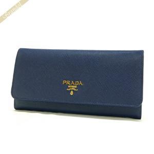 プラダ PRADA レディース 長財布 パスケース付 レザー ウォレット ブルー 1MH132 QWA F0016 / BLUETTE [在庫品]|brandol