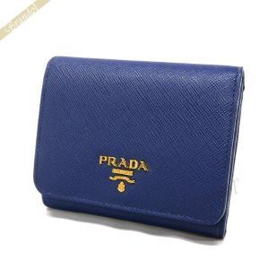 プラダ PRADA 財布 レディース 三つ折り財布 サフィアーノ レザー ミニ財布 ネイビー 1MH176 QWA F0016 [在庫品]|brandol