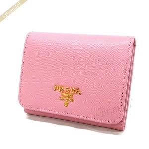 プラダ PRADA 財布 レディース 三つ折り財布 サフィアーノ レザー ミニ財布 ピンク 1MH176 QWA F0442 / PETALO [在庫品]|brandol