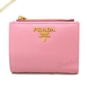 プラダ PRADA レディース 二つ折り財布 サフィアーノ レザー ライトピンク 1ML023 QWA F0442 [在庫品]|brandol