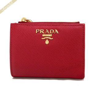 プラダ PRADA レディース 二つ折り財布 サフィアーノ レザー レッド 1ML023 QWA F068Z [在庫品]|brandol