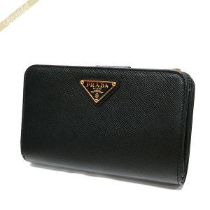 プラダ PRADA 財布 レディース 二つ折り財布 サフィアーノ レザー ブラック 1ML225 QHH F0002 【2017年秋冬新作】[在庫品]|brandol