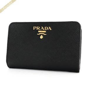プラダ PRADA 財布 レディース 二つ折り財布 レザー ブラック 1ML225 QWA F0002 / NERO 【2017年秋冬新作】 [在庫品]|brandol