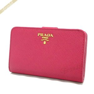 プラダ PRADA 財布 レディース 二つ折り財布 レザー ピンク 1ML225 QWA F0505 [在庫品]|brandol