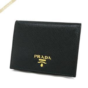 プラダ PRADA 財布 レディース 二つ折り財布 レザー ミニ財布 ブラック 1MV204 QWA F0002 [在庫品] brandol