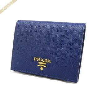 プラダ PRADA 財布 レディース 二つ折り財布 レザー ミニ財布 ネイビー 1MV204 QWA F0016 / BLUETTE 【2018年春夏新作】[在庫品]|brandol