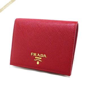 プラダ PRADA 財布 レディース 二つ折り財布 レザー ミニ財布 レッド 1MV204 QWA F068Z / FUOCO [在庫品] brandol