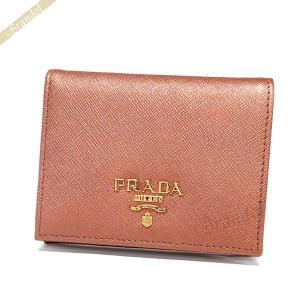 プラダ PRADA レディース 二つ折り財布 レザー ミニ財布 ピンク系メタリック 1MV204 QWA F0CBV [在庫品]|brandol