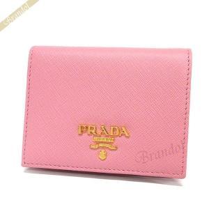 プラダ PRADA レディース 二つ折り財布 レザー ピンク 1MV204 ZLP F0BTZ [在庫品]|brandol