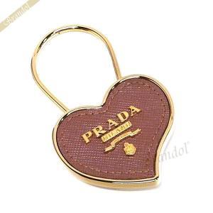 プラダ PRADA レディース キーリング ハート カーフレザー キーホルダー ピンク×ゴールド 1PP047 053 F0CBV [在庫品] brandol