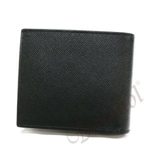 e396f12a89d5 ... プラダ PRADA 財布 メンズ 二つ折り財布 ツートンカラー レザー ブラック×グリーン系 2MO738 2EGO ...