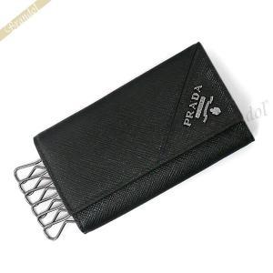 プラダ PRADA キーケース メンズ レザー 6連 ブラック 2PG222 QME F0002 / NERO [在庫品]|brandol