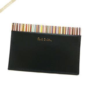 ポールスミス Paul Smith カードケース メンズ レザー マルチストライプ ブラック ATPC 4768 W761 79 [在庫品]|brandol