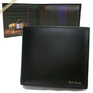 ポールスミス Paul Smith 財布 メンズ 二つ折り財布 ミニクーパー レザー ブラック AUPC 4833 W718A 79 [在庫品]|brandol