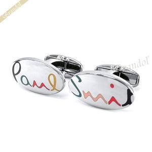 ポールスミス Paul Smith メンズ カフスボタン ロゴ シルバー M1A CUFF ARAINB 82 [在庫品]|brandol