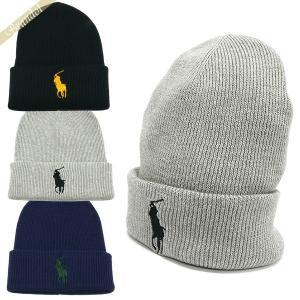 ポロ ラルフローレン POLO RALPH LAUREN メンズ・レディース ニット帽 ビッグポニー コットン100% ニットキャップ 各色 PC0061 [在庫品]|brandol