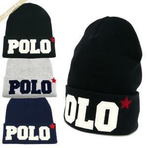 ポロ ラルフローレン POLO RALPH LAUREN メンズ・レディース ニット帽 ロゴ コットン100% ニットキャップ 各色 PC0243 [在庫品]|brandol