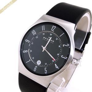 スカーゲン SKAGEN メンズ腕時計 Titanium Date チタニウム デイト 37mm ブラック 233XXLSLB [在庫品] brandol