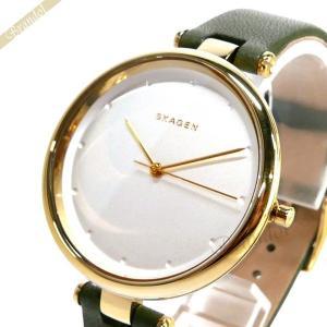 スカーゲン SKAGEN レディース腕時計 Tanja 30mm シルバー×グリーン SKW2483 [在庫品]|brandol