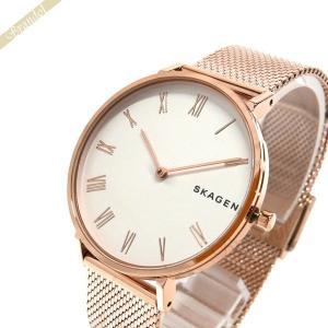 スカーゲン SKAGEN レディース腕時計 HALD ハルド メッシュベルト 34mm ホワイト×ローズゴールド SKW2714 [在庫品]|brandol