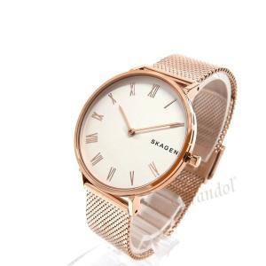 スカーゲン SKAGEN レディース腕時計 HALD ハルド メッシュベルト 34mm ホワイト×ローズゴールド SKW2714 [在庫品]|brandol|02